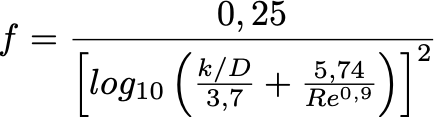 Ecuación de Swamee-Jain