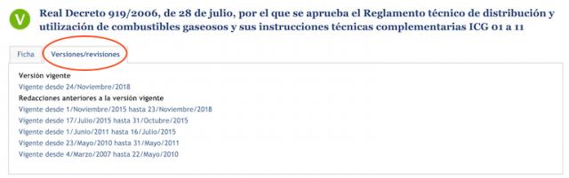 Ficha de normativa en la web de Noticias Jurídicas